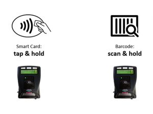 Tap or scan your Smart Card